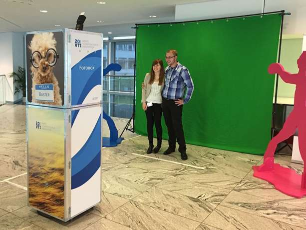 Messe Fotobox Greenscreen
